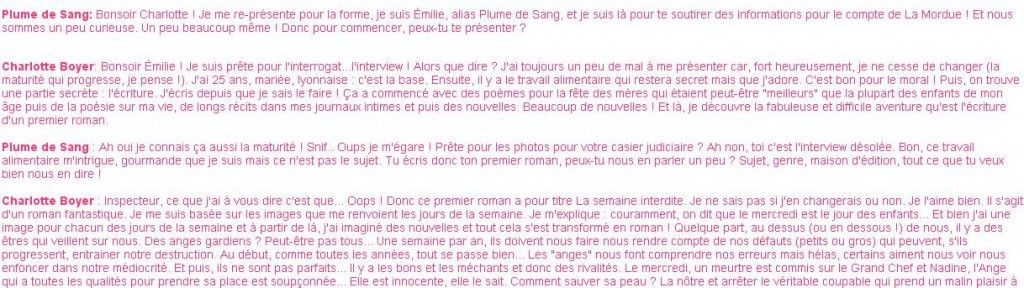 Extrait interview
